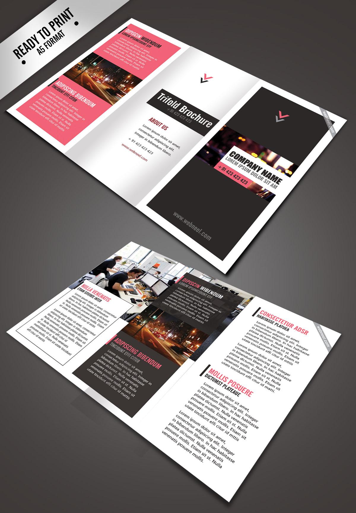 11 Simple Corporate Trifold Brochure Design Templates