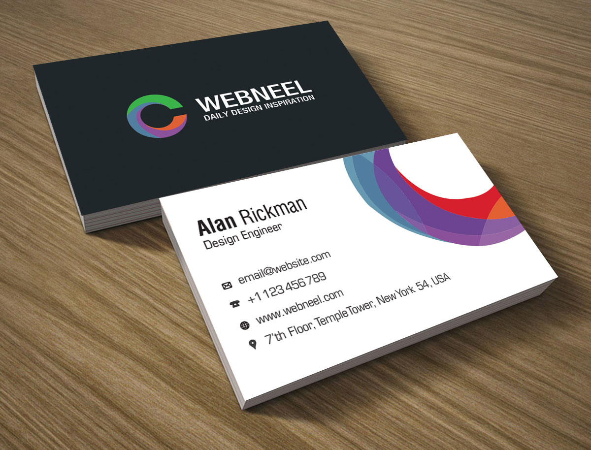 Modern business card template 16