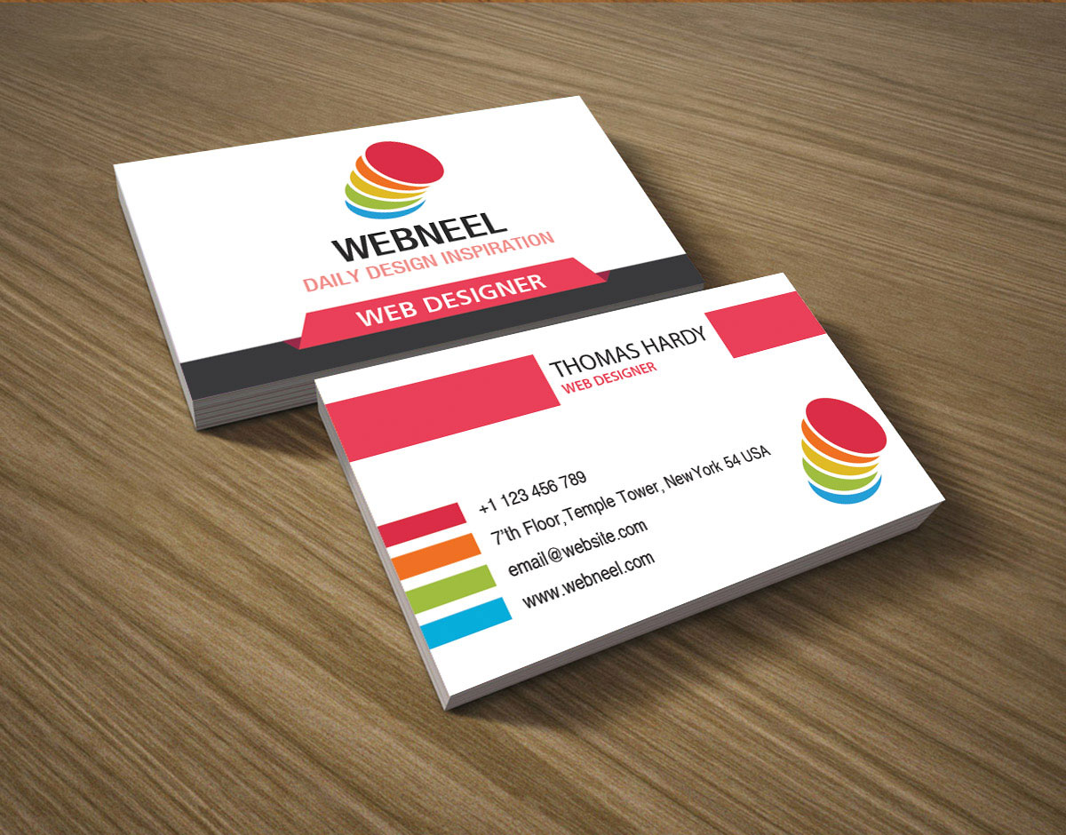 Colorful business card template 17