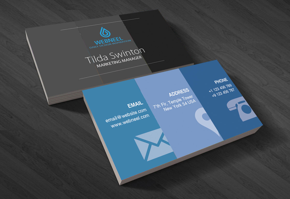Modern business card template 18