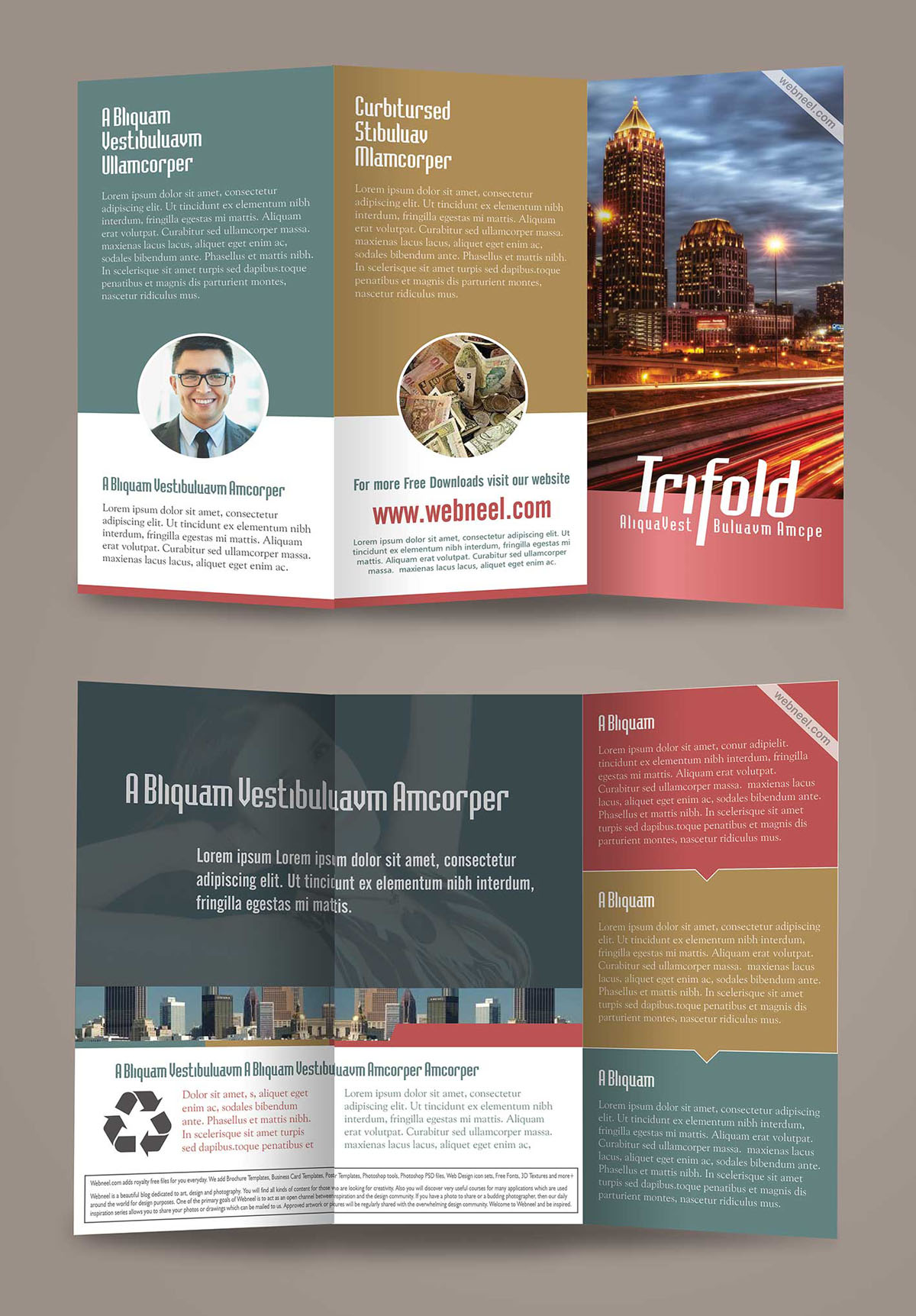 Corporate Trifold Brochure Design Templates