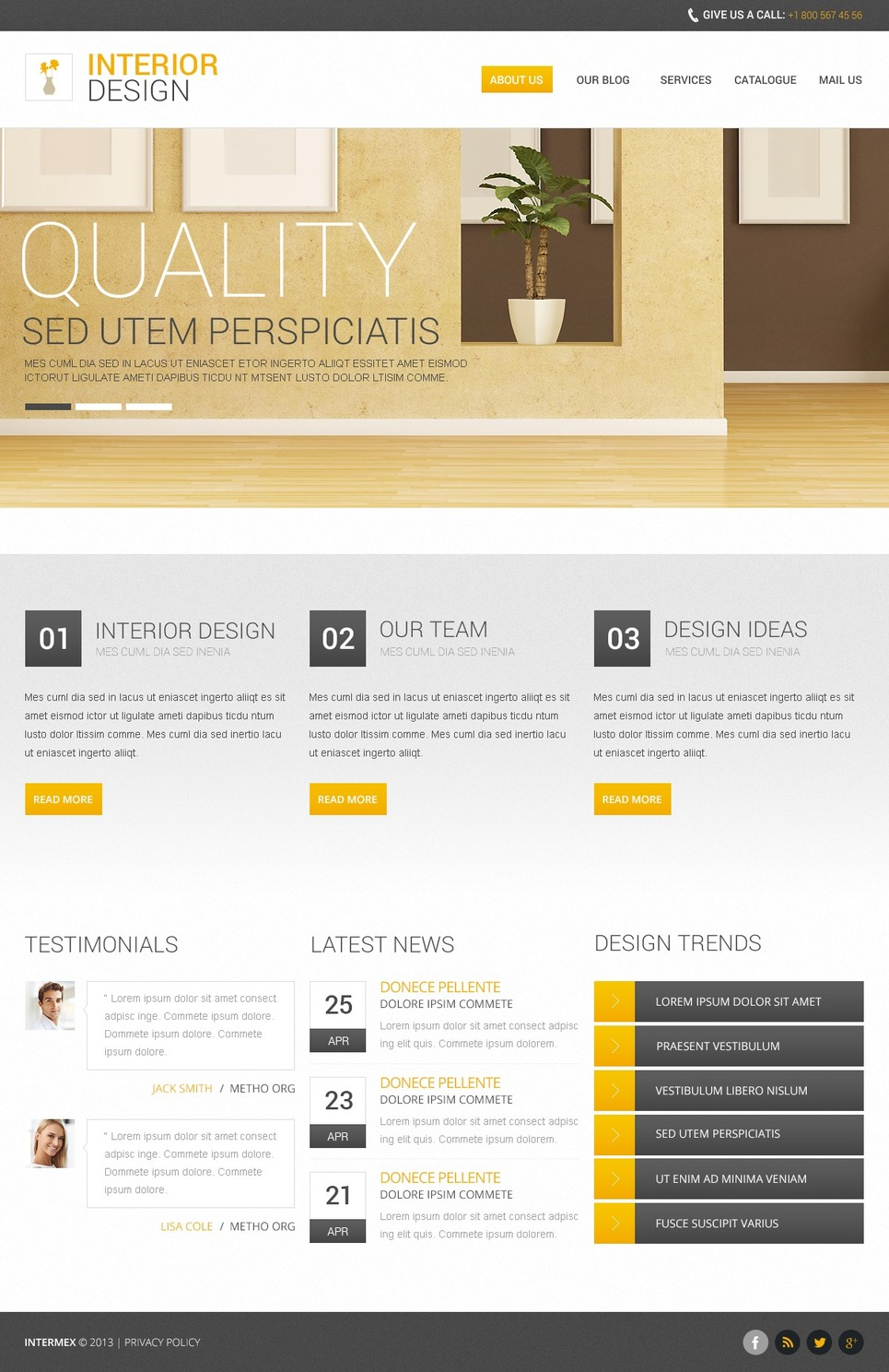 Interior design   template monster1   Free Drupal Theme