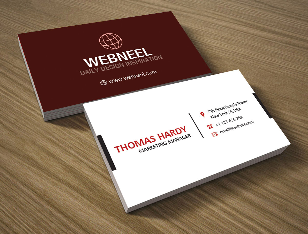 22 Modern business card template   Free Download