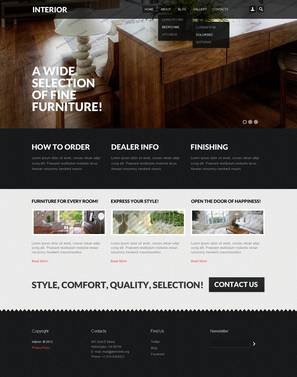 Interior design   template monster   Free Drupal Theme