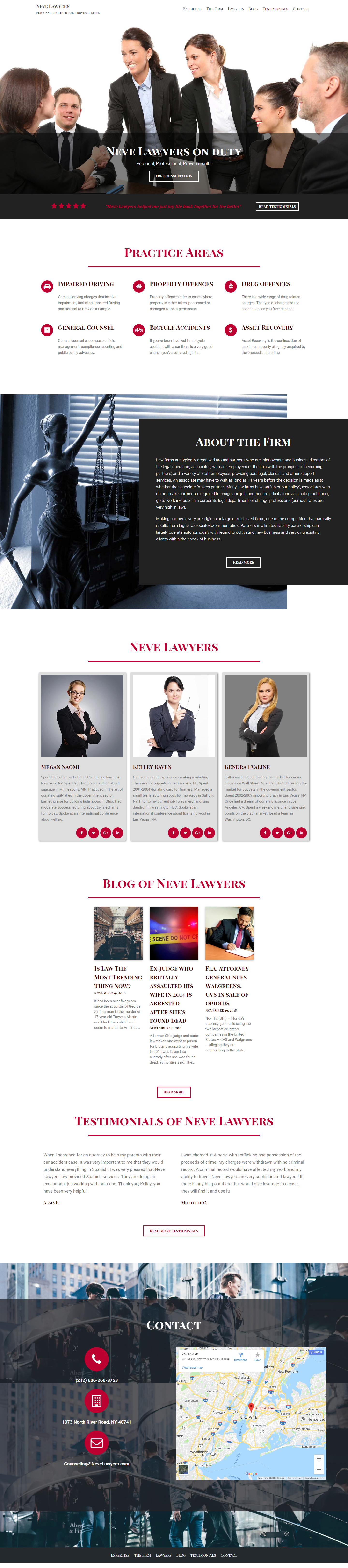 Neve Lawyers   Free wordpress themes