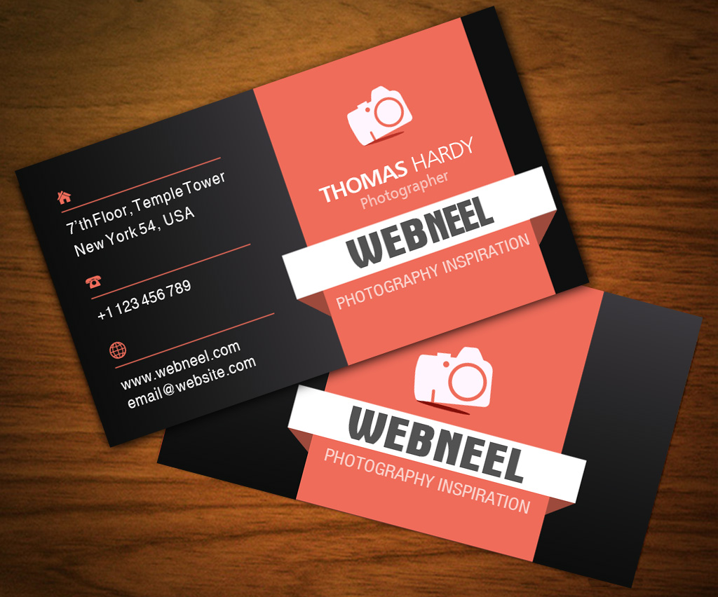 Photography Business Card Design template 36