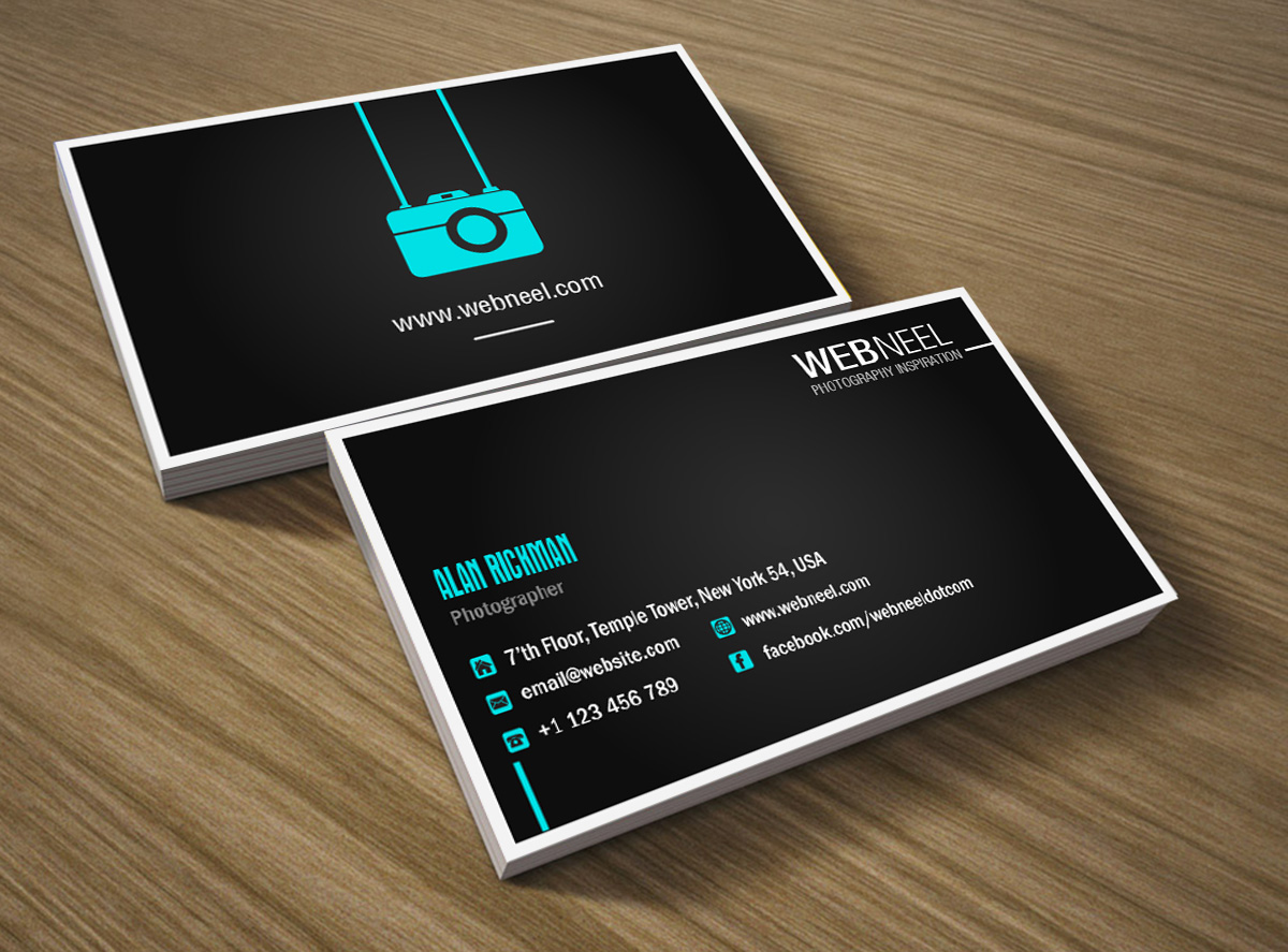 photography business card design template 41