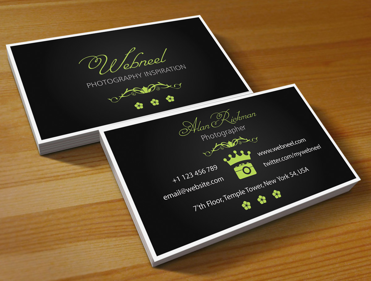 Photography Business Card Design template 42