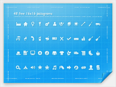 48 FREE 16x16 Pictograms Icons   AI File
