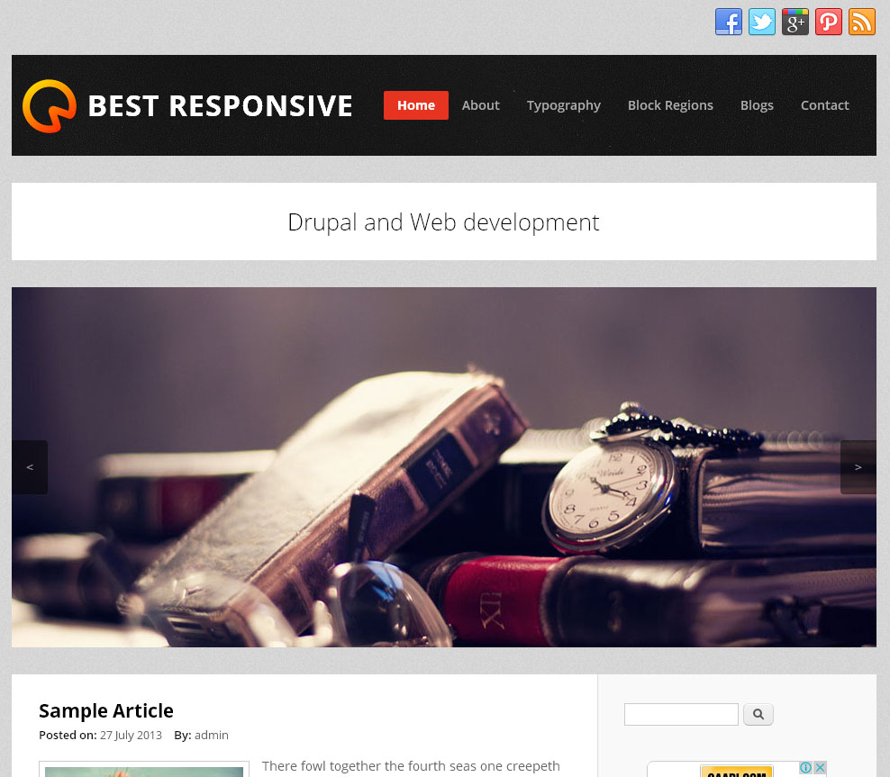 Best Responsive   Free Drupal Theme