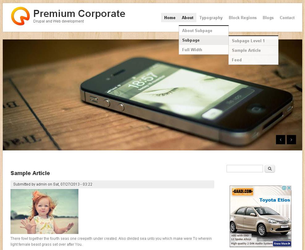 Premium Corporate   Free Drupal Theme