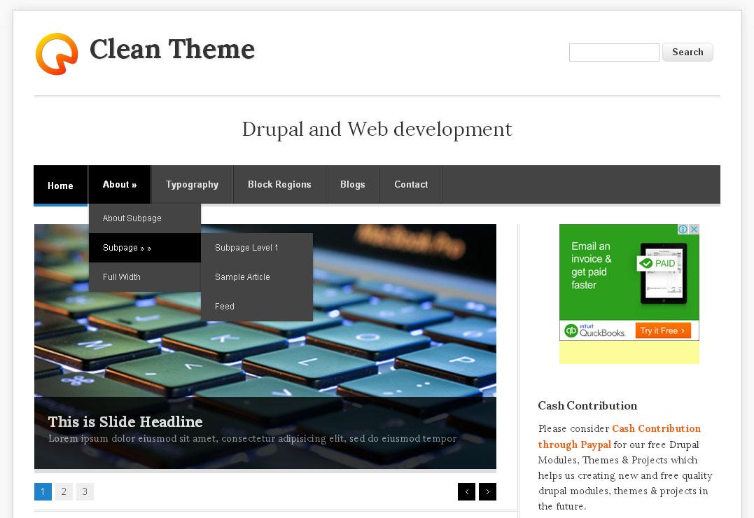 Clean Theme   Free Drupal Theme