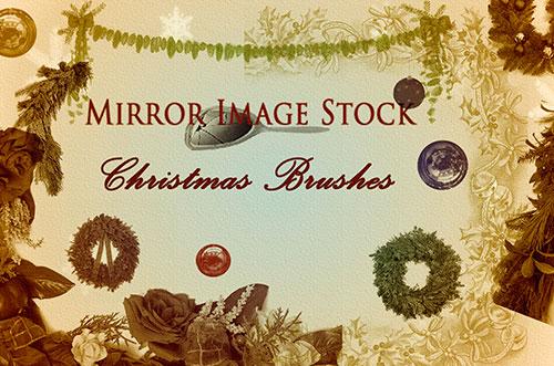 Stock Christmas Brushes