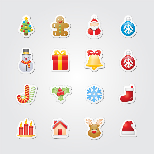 Chritmas Stickers Icons