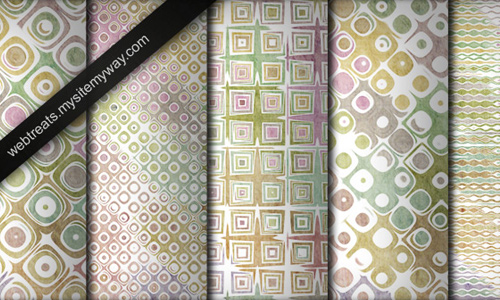 Grungy Faded Retro Patterns