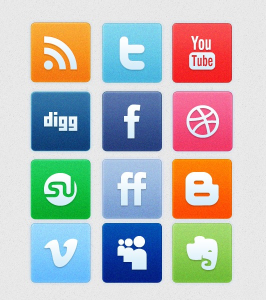 Noise Social Media Icon Set PNG