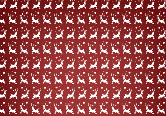 Reindeer Christmas Seamless Vector Pattern