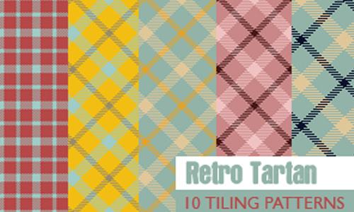 Retro Tartan   10 patterns