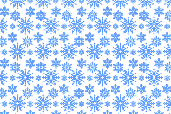Christmas Snowflake Vector Pattern