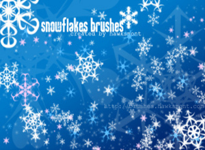 Snow Flakes 3   Photoshop Brush