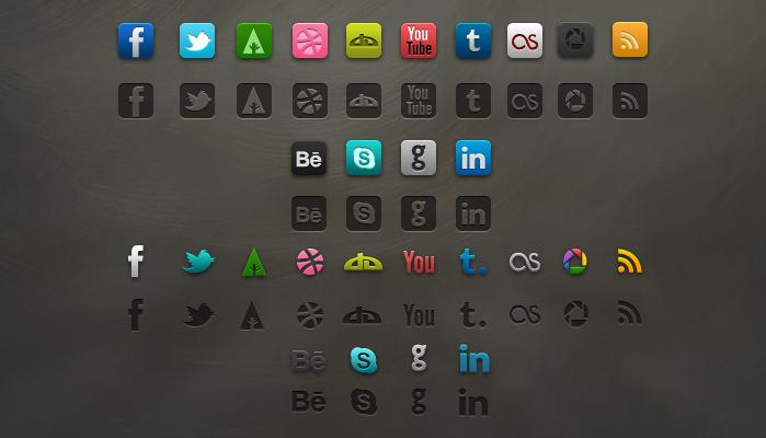 Beautiful Social icons