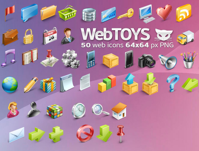 WebToys 50 web icons
