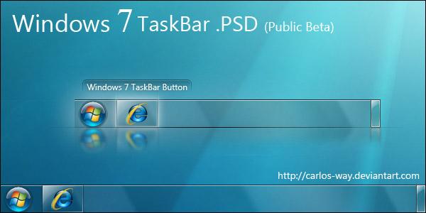 Windows 7 Taskbar psd by Carlos Way