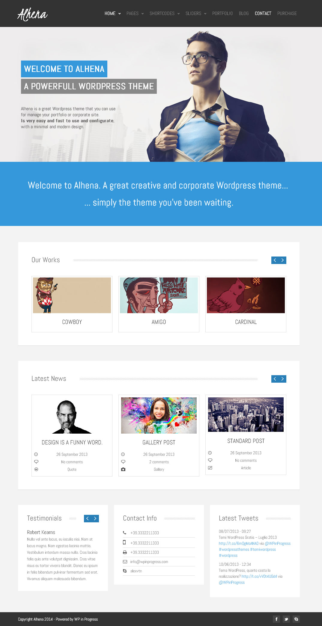 Alhena   Free Corporate WordPress theme