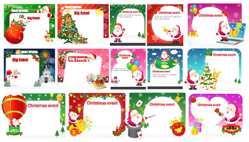 Christmas Cards Vecor Pack EPS AI