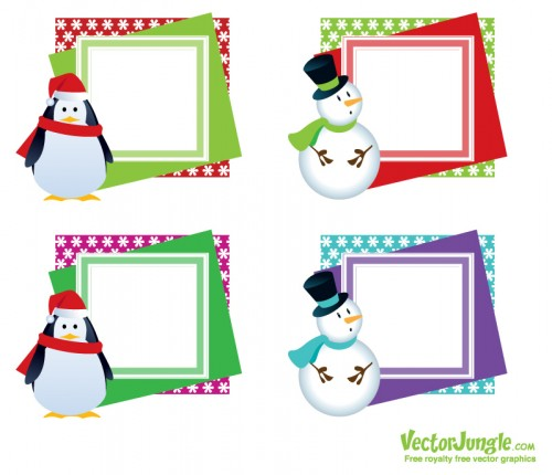Christmas Vector Frames   Greeting Cards