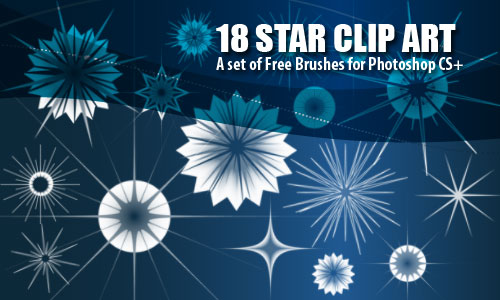 Star Clip Art Brushes