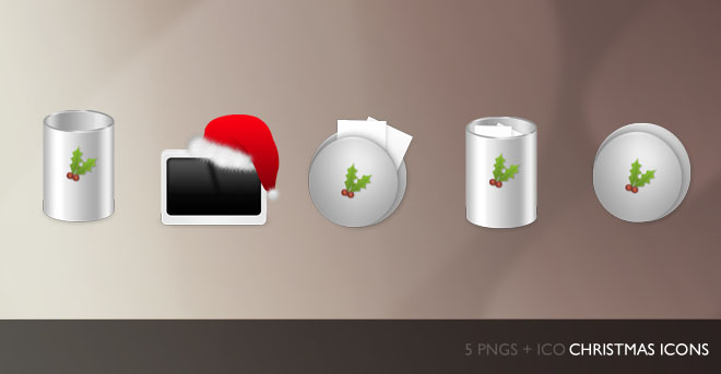 Christmas Dock Icons   5 Png ICO