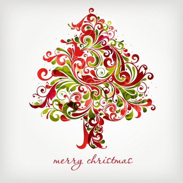 Christmas Tree floral vector
