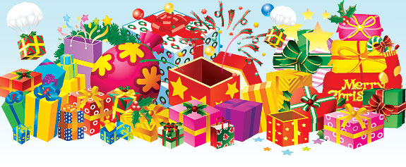 Gift Boxes Vector Pack   Christmas