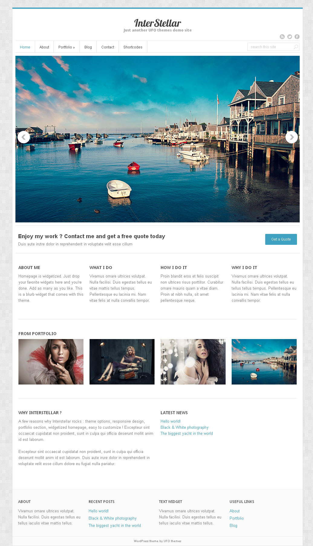 InterStellar   Free Wordpress theme