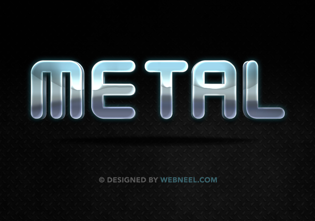Metal effect photoshop layer style by webneel