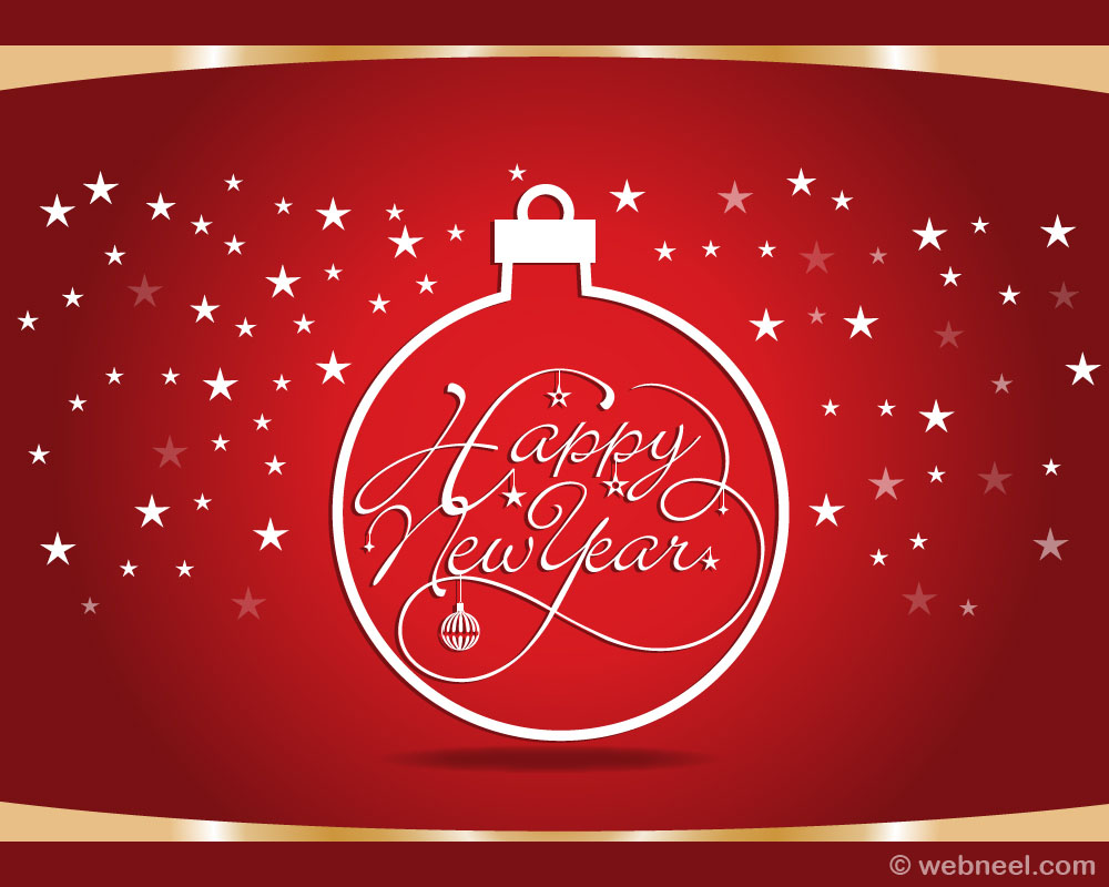 Free New year Greeting card vector