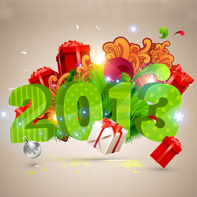 Happy New Year Vector Element   EPS AI