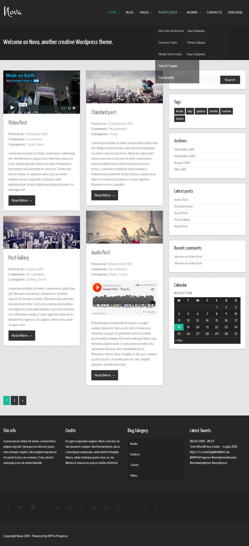 Nova   Free wordpress themes