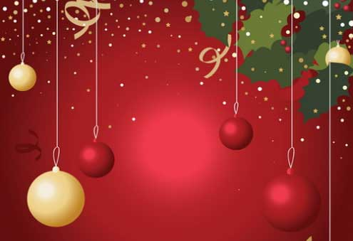 Christmas Ornament Background EPS AI SVG