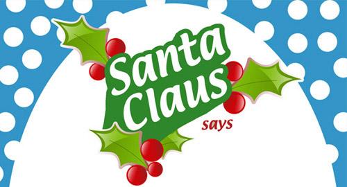 Santa Claus text Leaf Vector