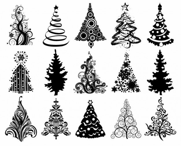 Christmas tree vector graphic EPS