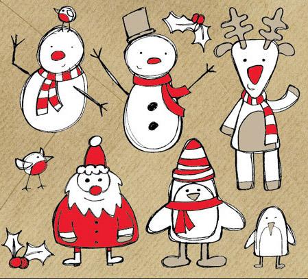 Santa Claus Cartoon Sketch illustration PNG