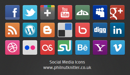 Social Media Icons set by PhilnutKnitler