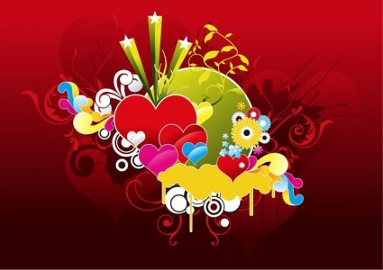 valentine day Heart Vector Graphic