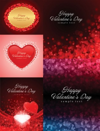 Romantic love card background vector