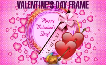 Valentines Day Frame Vector Art
