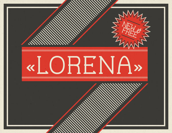 lorena font 1