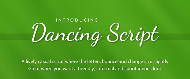 Dancing Script (  )