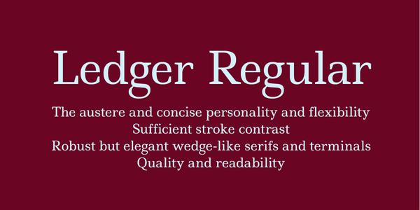 Ledger Regular - by Denis Masharov (  )